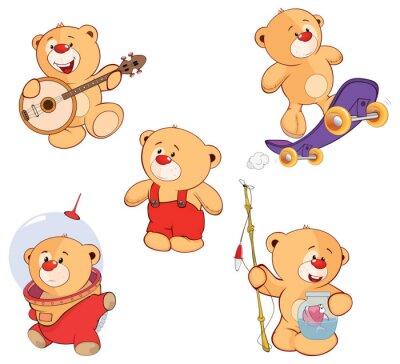 Наклейка Набор медведей мультфильма