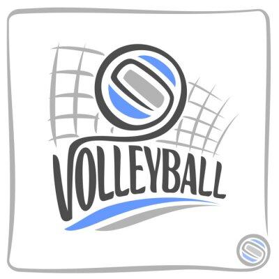Наклейка Абстрактный фон на волейбольной теме