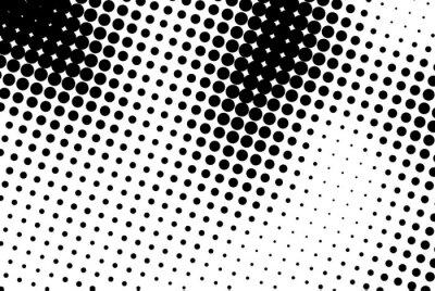 Наклейка Абстрактный фон с черными точками.