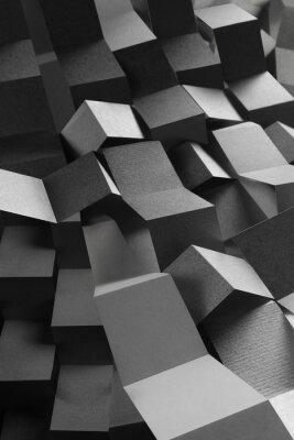 Наклейка Абстрактная композиция полос бумаги, геометрический фон