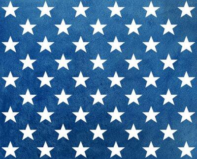 Наклейка Абстрактный темный рисунок синий акварель с белыми звездами.