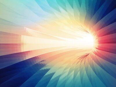 Наклейка Абстрактные цифровой фон. Красочные изогнутые туннель