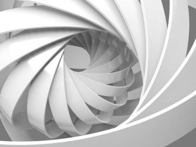 Наклейка Аннотация цифровой фон с 3d спиральной структурой
