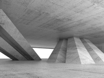 Наклейка Аннотация пустой бетонный интерьер 3d визуализации