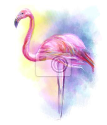 Наклейка Аннотация фламинго розовый иллюстрация