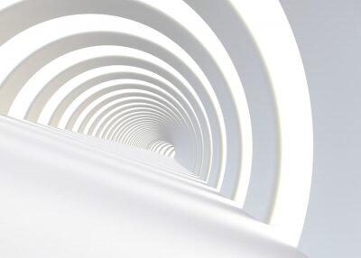 Наклейка Абстрактный футуристический туннель в современном стиле