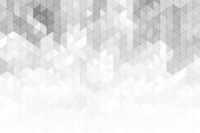 Наклейка Абстрактная геометрическая предпосылка с серыми и белыми формами треугольника тона цвета.
