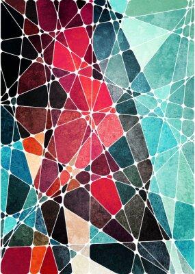 Наклейка абстрактный геометрический гранж-фон