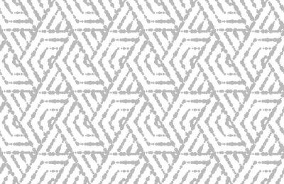Наклейка Абстрактный геометрический узор с полосами, линиями. Бесшовные векторные фон Белый и серый орнамент. Простой решетчатый графический дизайн.