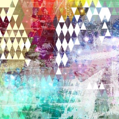 Наклейка Абстрактный фон стиле гранж с терпящего бедствие эффекта