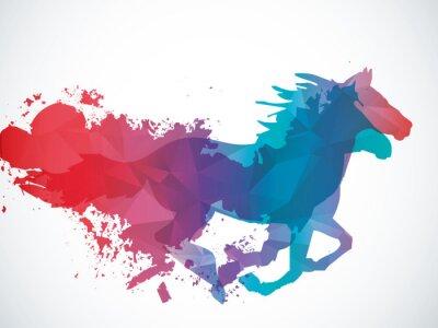 Наклейка Аннотация лошадь