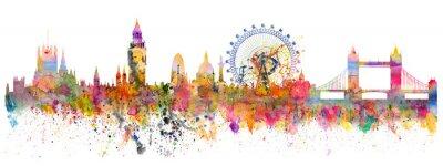 Наклейка Абстрактная иллюстрация горизонта Лондона