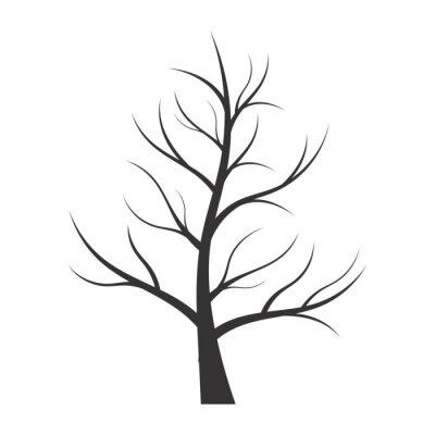 Наклейка Абстрактный иллюстрация - силуэт дерева