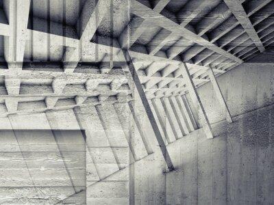 Наклейка Абстрактный интерьер с пустой комнате и бетона