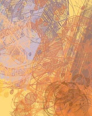 Наклейка Абстрактная живопись на холсте. Ручная работа. Красочная текстура. Современные произведения искусства. Штрихи жирной краски. Мазки. Современное искусство. Художественное фоновое изображение.