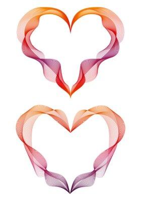 Наклейка абстрактные ленты сердца, вектор