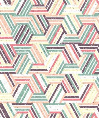 Наклейка Абстрактный бесшовный узор из множества треугольников и полос. Текстурированный фон.