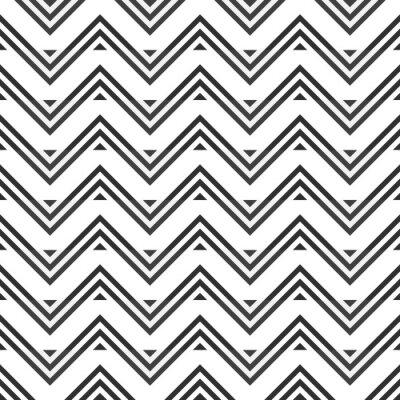 Наклейка Абстрактный бесшовные модели из серого зигзага на белом фоне