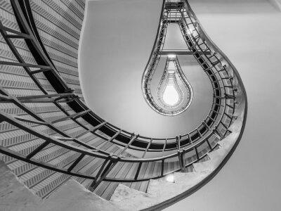 Наклейка Абстрактный выстрел из лестницы, ведущей к лампочке, как O