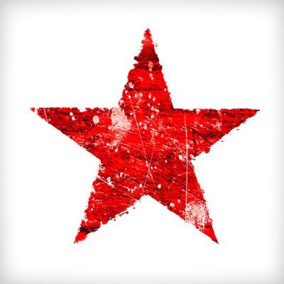 Наклейка Абстрактная звезда на белом фоне