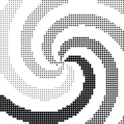 Наклейка Абстрактные вихрем вектор полутонов точка
