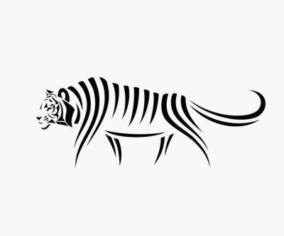 Наклейка Абстрактные иллюстрации тигра