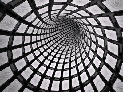 Наклейка Абстрактный туннель, 3D