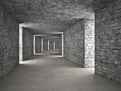 Наклейка абстрактный тоннель