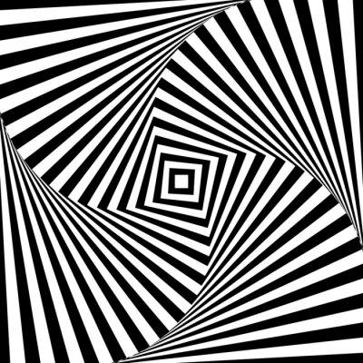Наклейка Абстрактные векторные зрительная иллюзия в черно-белом