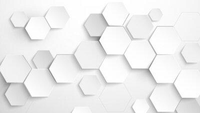Наклейка Abstract white hexagon background. Vector Illustration