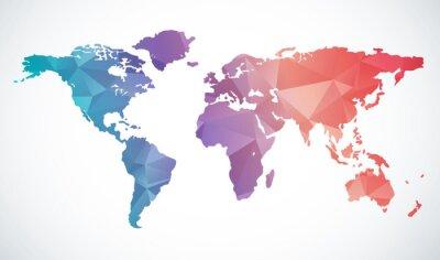 Наклейка Аннотация карте мира