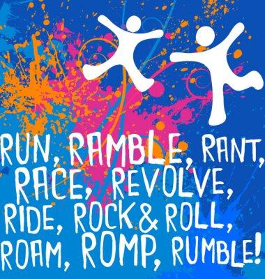 Наклейка активные деятели мотивационный текст фитнес-серия плакатов