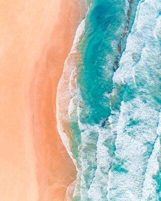 Наклейка Аэрофотоснимок красивого австралийского пляжа вдоль Великой океанской дороги, Виктория, летом