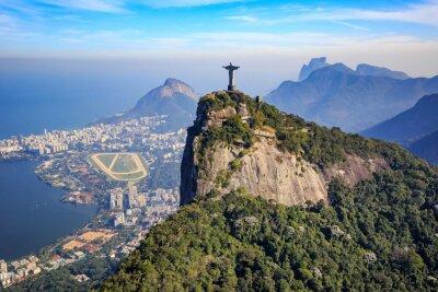 Наклейка Аэрофотосъемка Христа Спасителя и город Рио-де-Жанейро