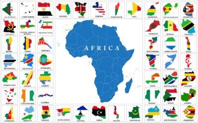 Наклейка страны Африки Флаг карты