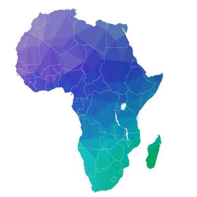 Наклейка Африка в цветовом треугольнике. Растр 4