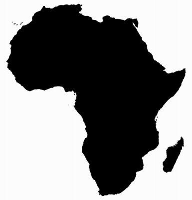 Наклейка Африка Карта