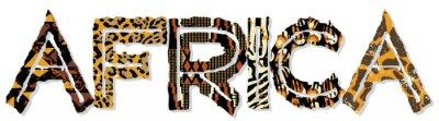 Наклейка Африка лоскутное с тканевыми и кожи текстур
