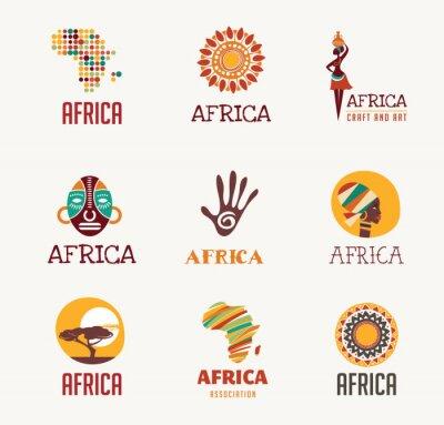 Наклейка Африка, Safari иконы и элемент набор
