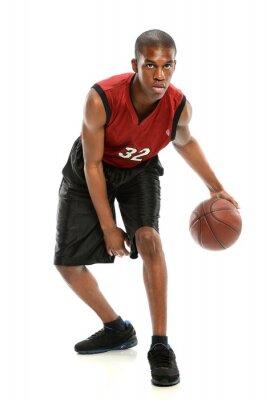 Наклейка African American Basketball Player