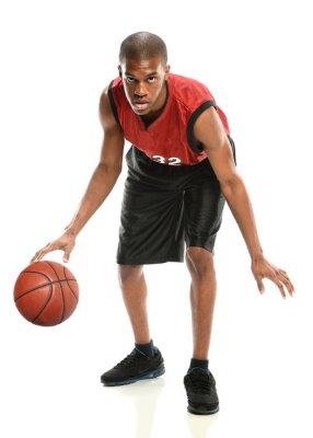 Наклейка Афроамериканец Баскетболист