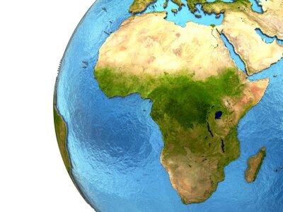 Наклейка Африканский континент на Земле