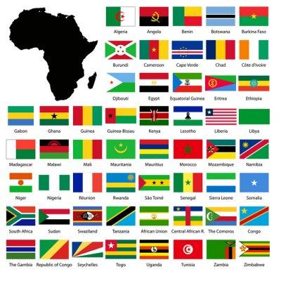 Наклейка African flags