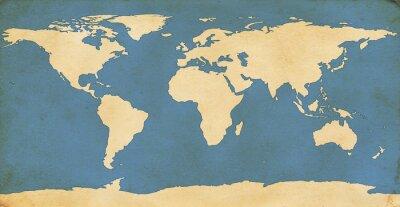 Наклейка В возрасте Карта Мира