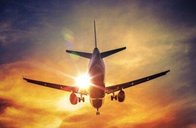 Наклейка Самолет и Солнце