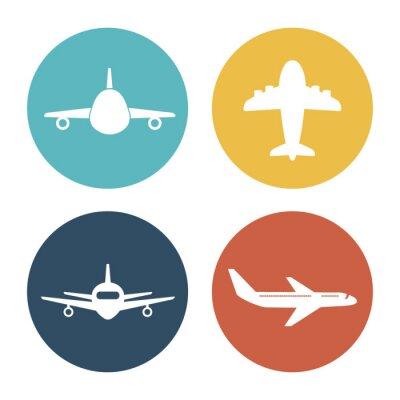 Наклейка Самолет и путешествия