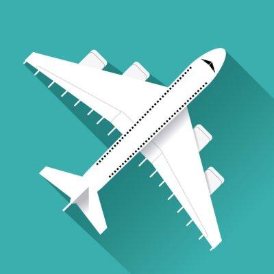 Наклейка значок дизайн самолета