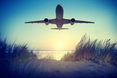 Наклейка Airplane Travel Destination Outdoors Take off Concept