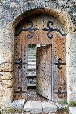 Наклейка Ajar old wooden door