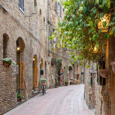 Наклейка Аллея в Старый город Тоскана Италия